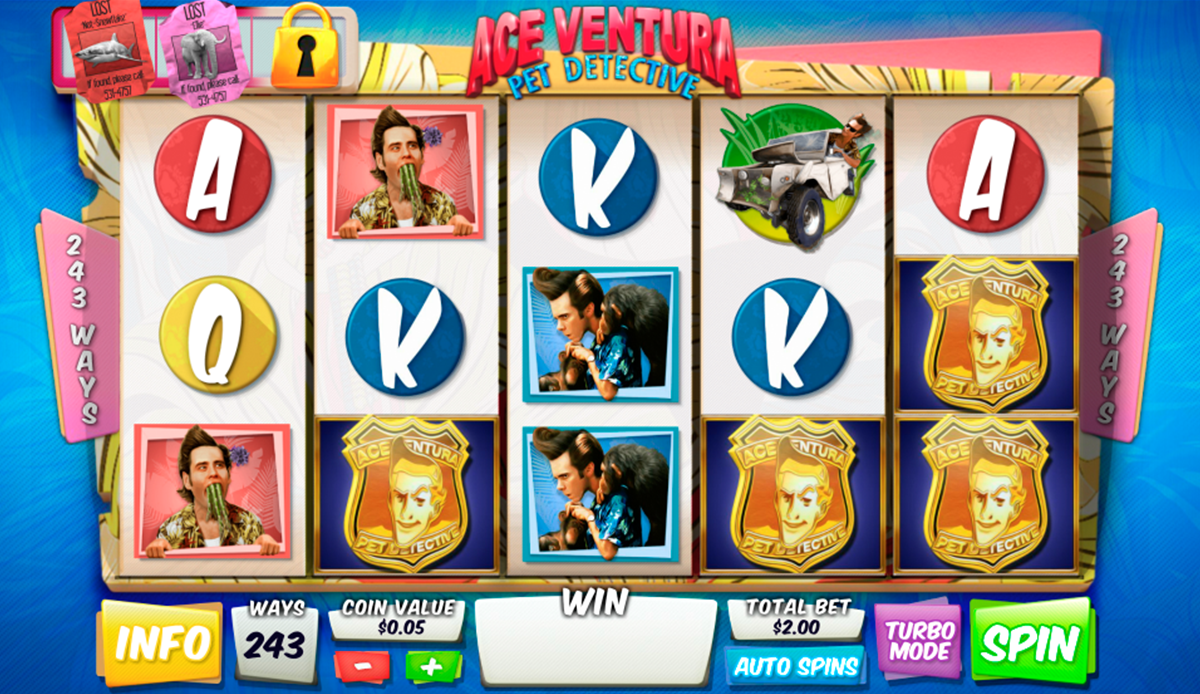 ace ventura pet detective playtech игровой автомат
