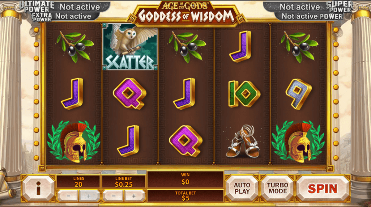 age of the gods goddess of wisdom playtech игровой автомат
