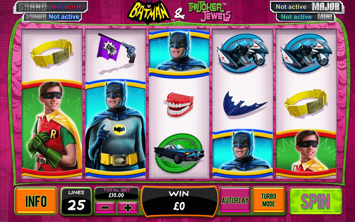 batman the joker jewels playtech игровой автомат