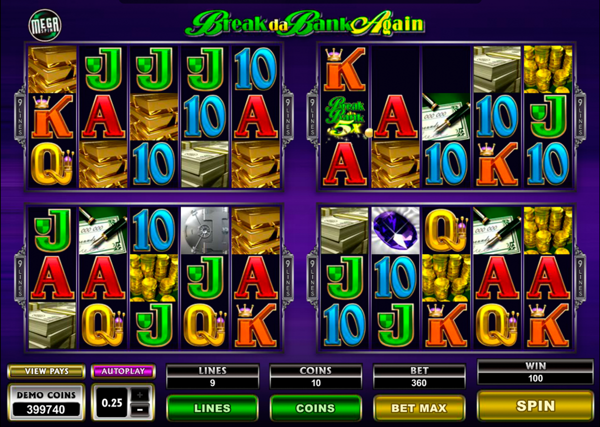 break da bank again megaspin microgaming игровой автомат
