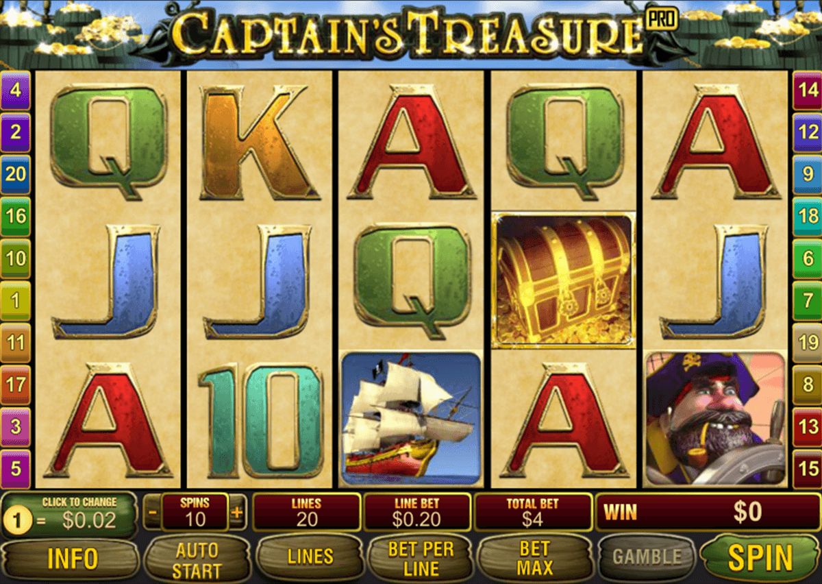 captains treasure pro playtech игровой автомат