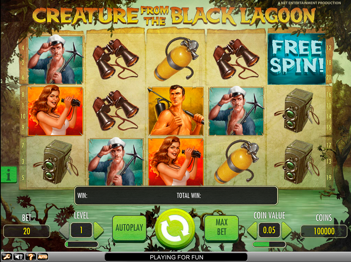 creature from the black lagoon netent игровой автомат