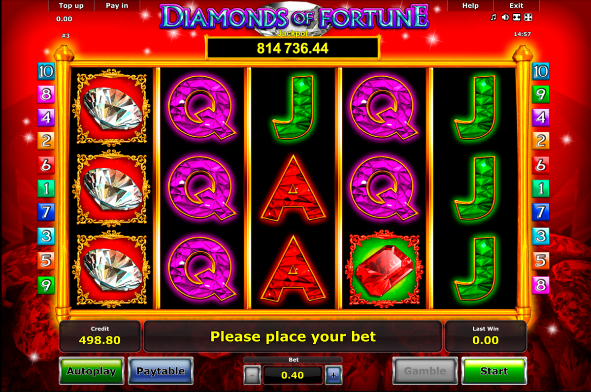 diamonds of fortune novomatic игровой автомат