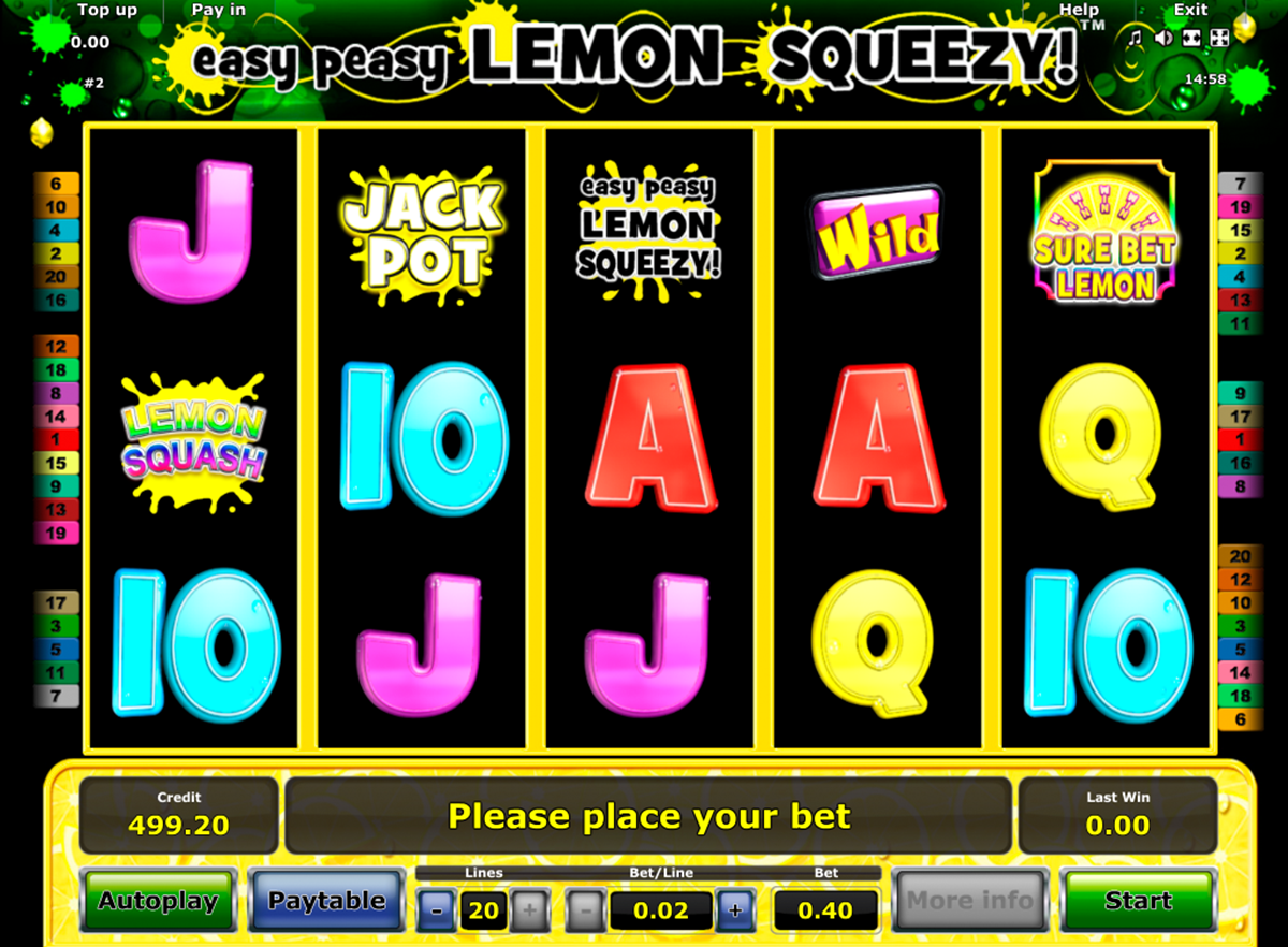 easy peasy lemon squeezy novomatic игровой автомат