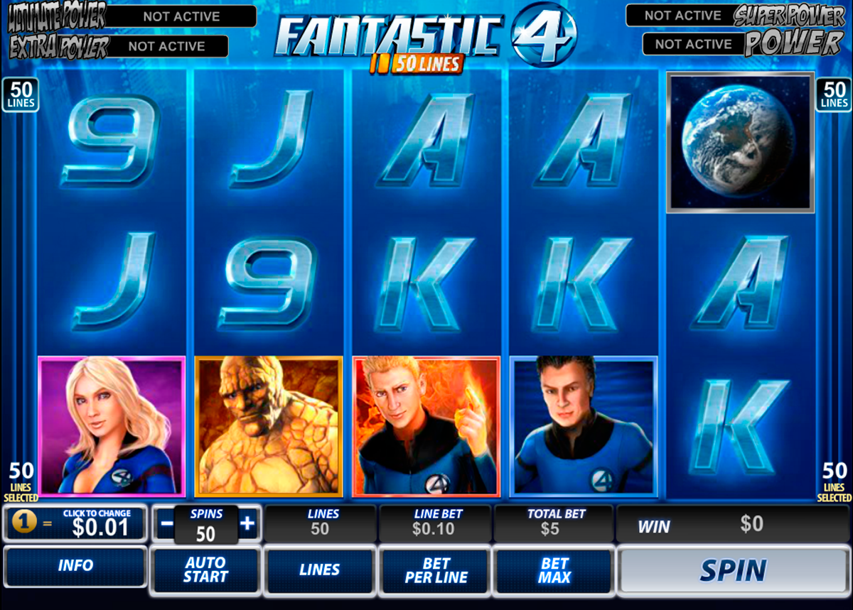 fantastic four 50 lines playtech игровой автомат