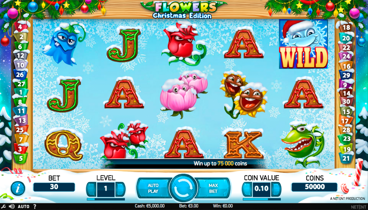 flowers christmas edition netent игровой автомат