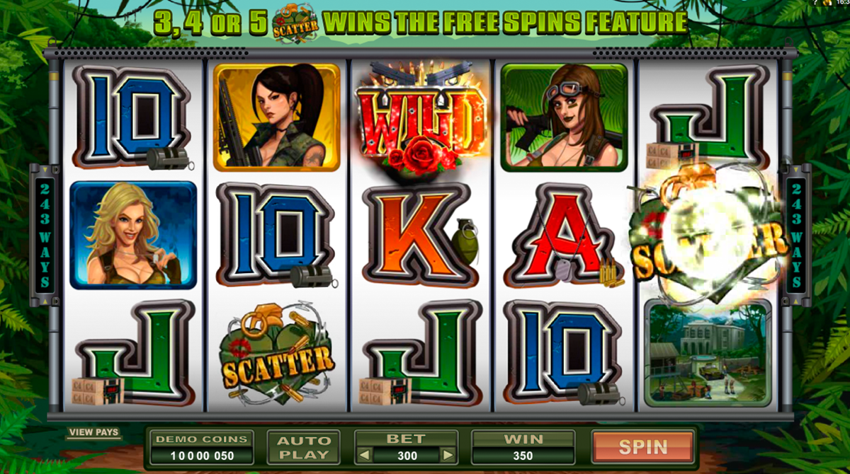 girls with guns jungle heat microgaming игровой автомат