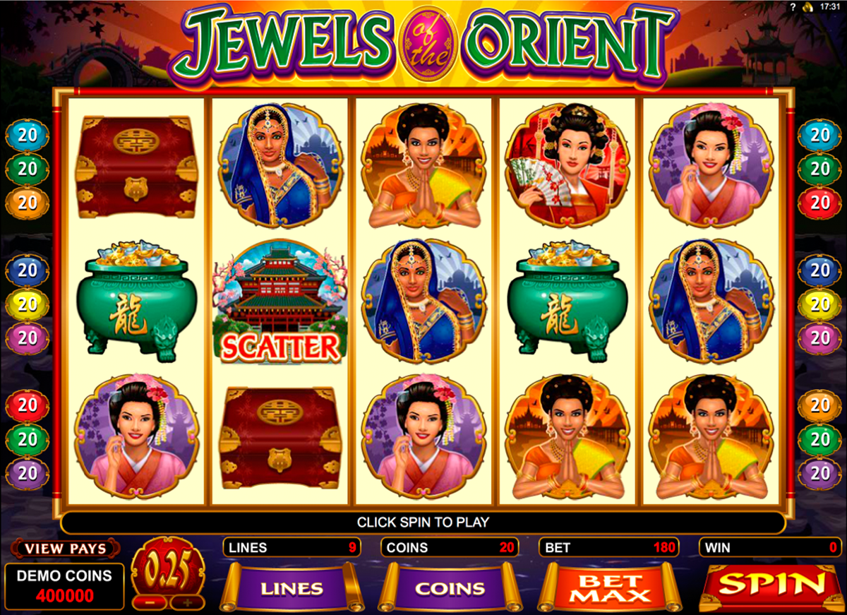 jewels of the orient microgaming игровой автомат