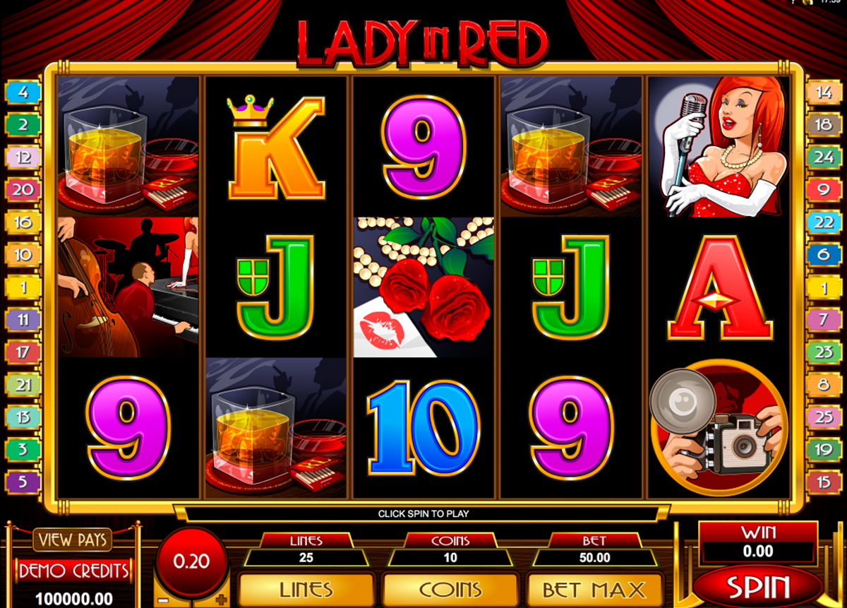 lady in red microgaming игровой автомат