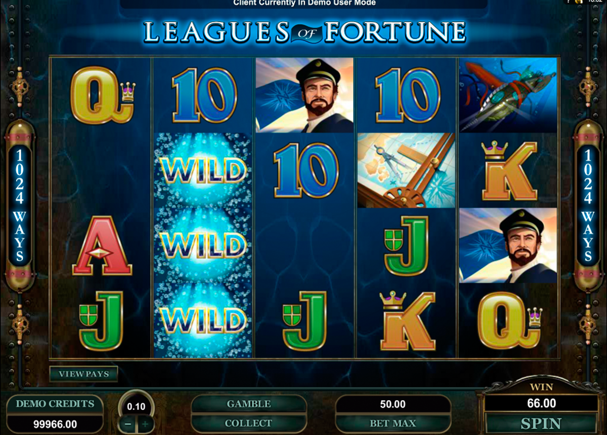 leagues of fortune microgaming игровой автомат