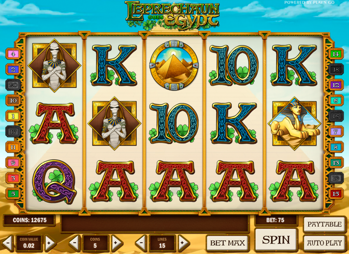 leprechaun goes egypt playn go игровой автомат