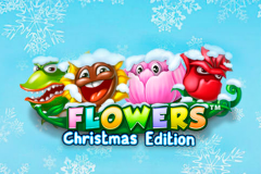 logo flowers christmas edition netent слот
