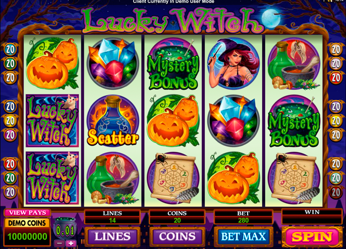 lucky witch microgaming игровой автомат