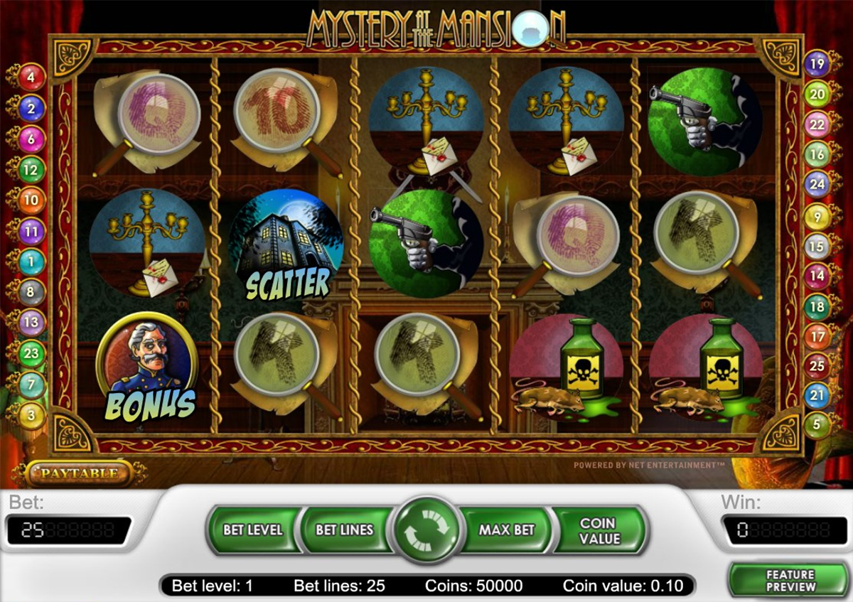 mystery at the mansion netent игровой автомат