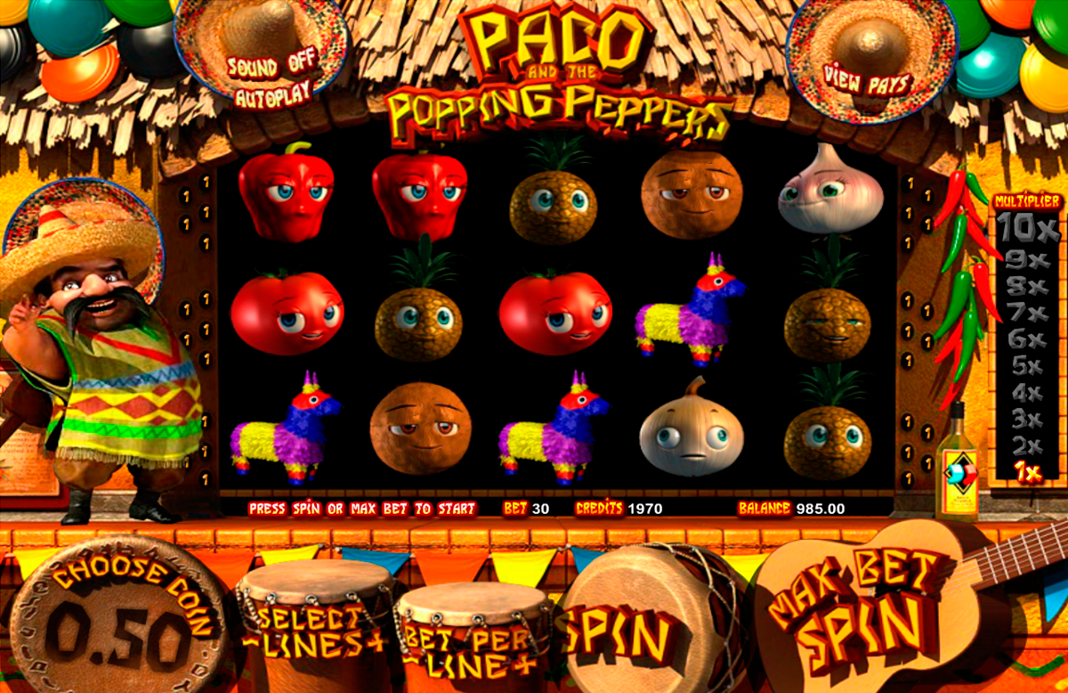 paco and the popping peppers betsoft игровой автомат