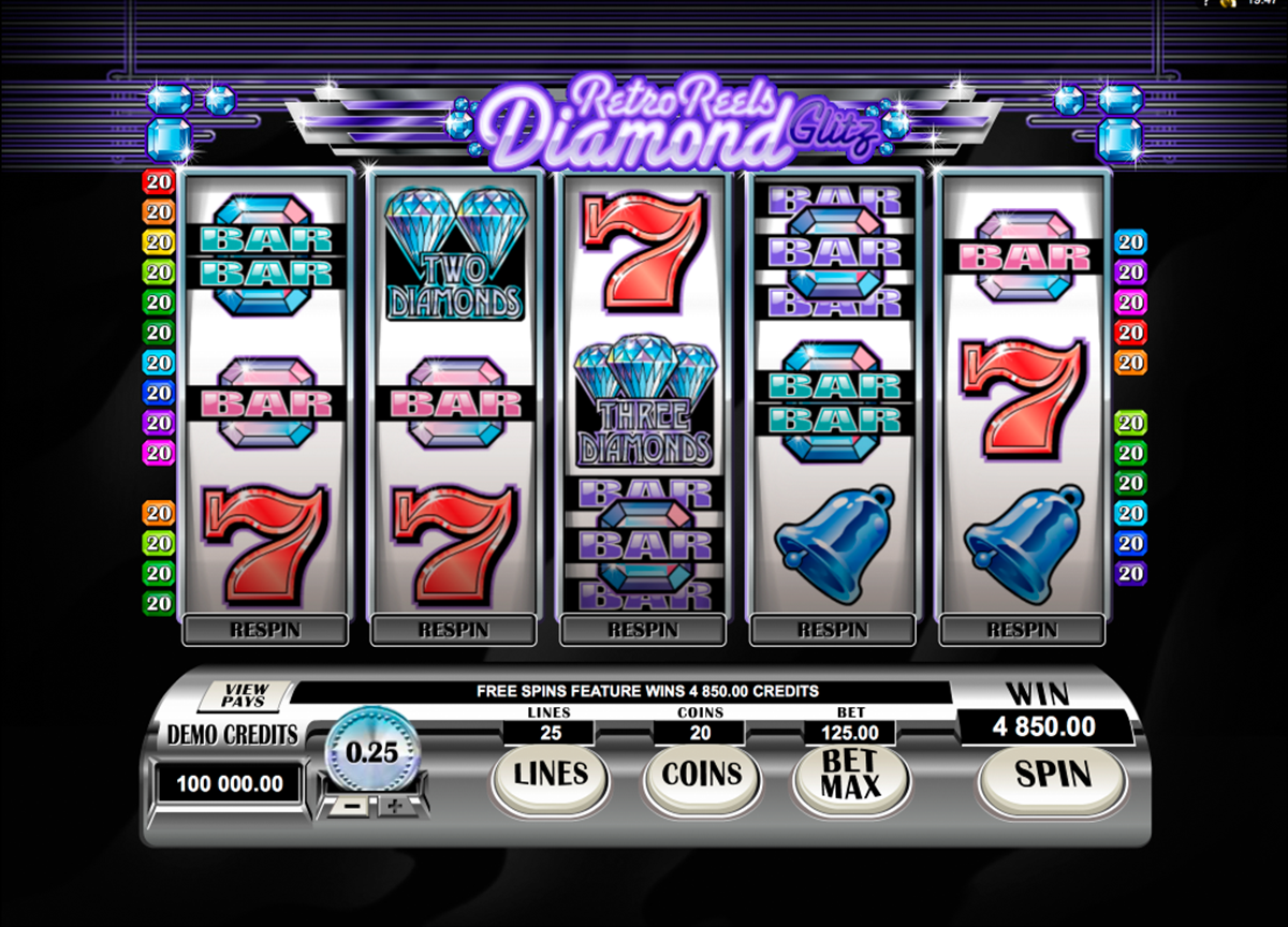 retro reels diamond glitz microgaming игровой автомат