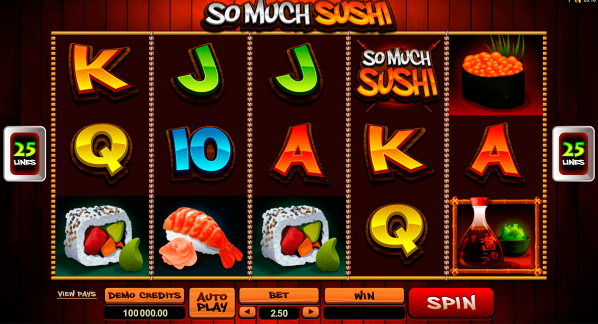 so much sushi microgaming игровой автомат