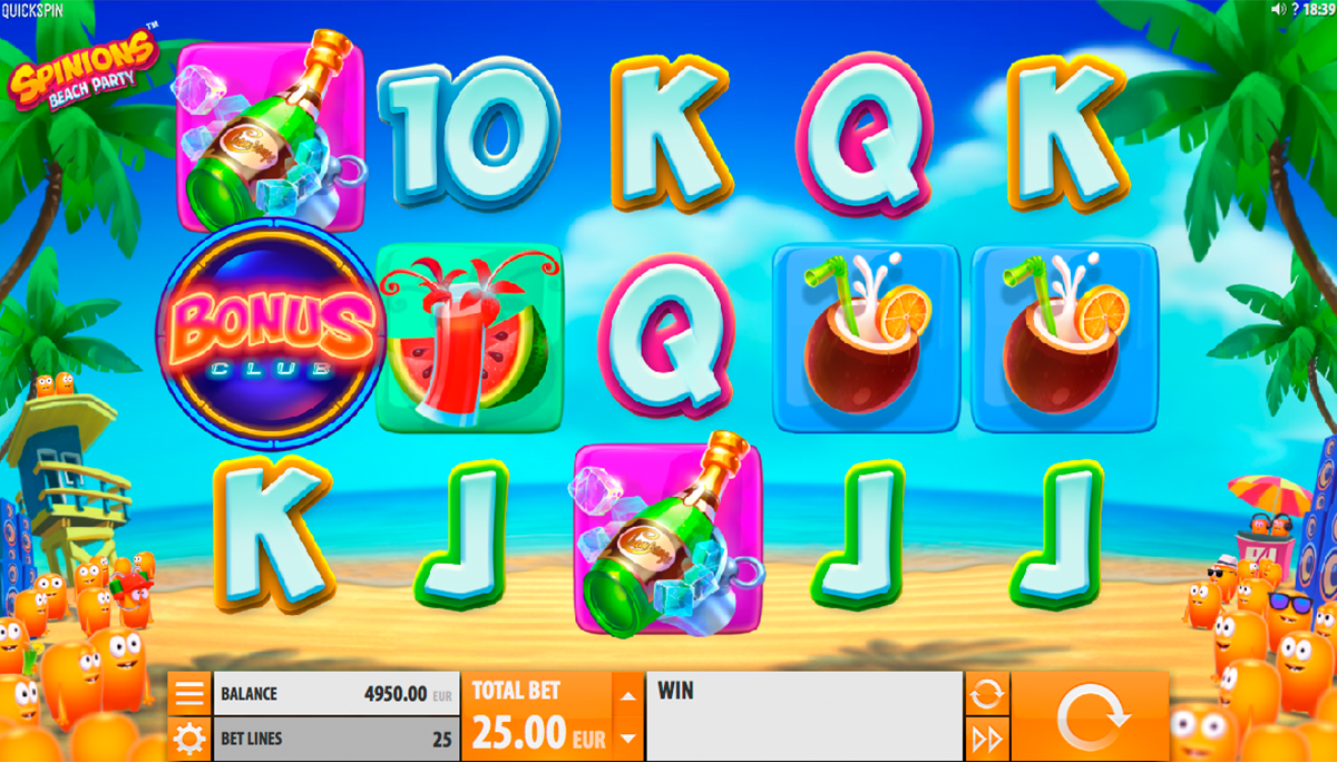 spinions beach party quickspin игровой автомат