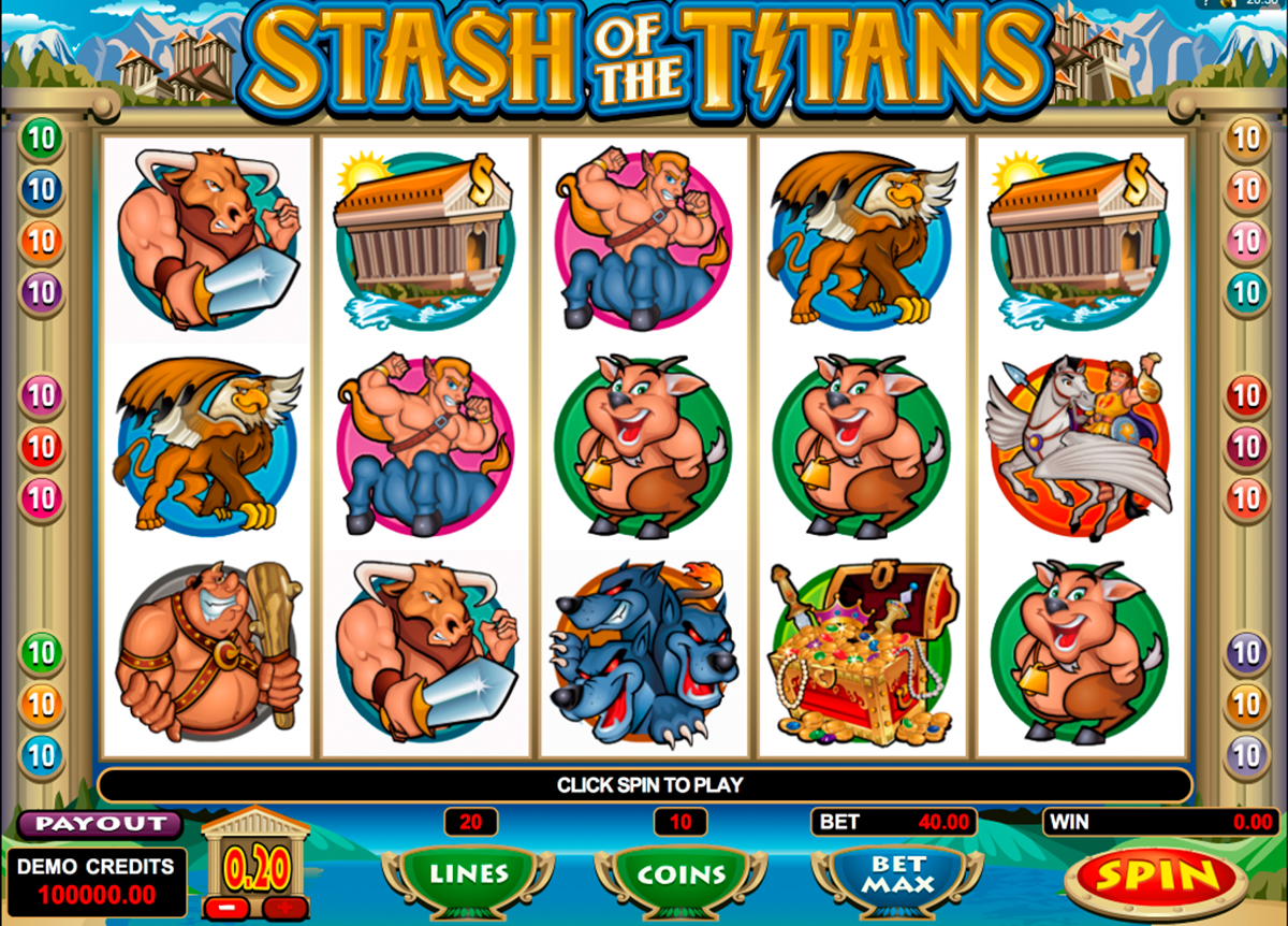 stash of the titans microgaming игровой автомат