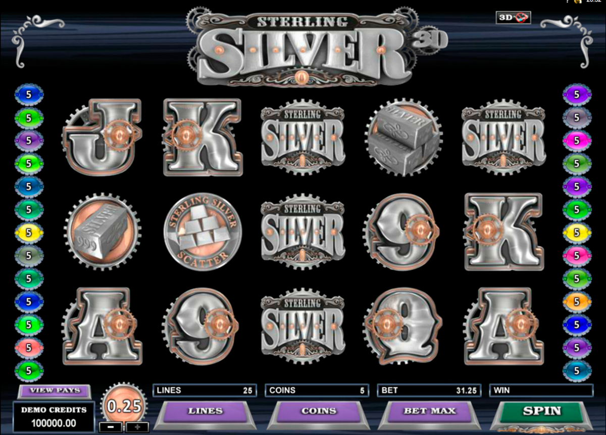 sterling silver 3d microgaming игровой автомат