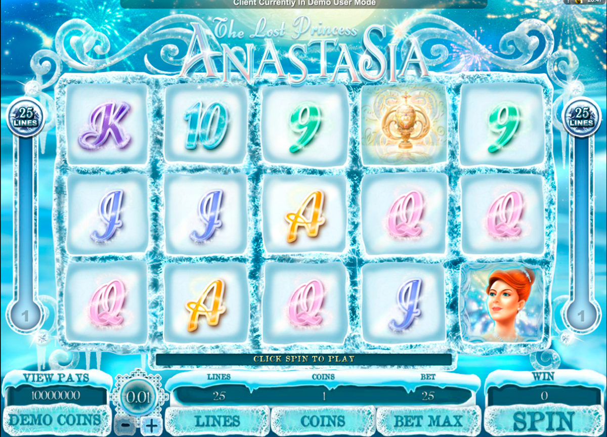 the lost princess anastasia microgaming игровой автомат