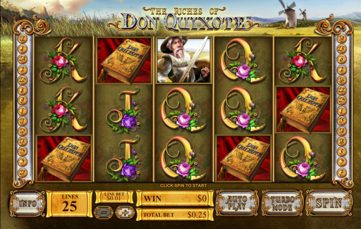 the riches of don quixote playtech игровой автомат