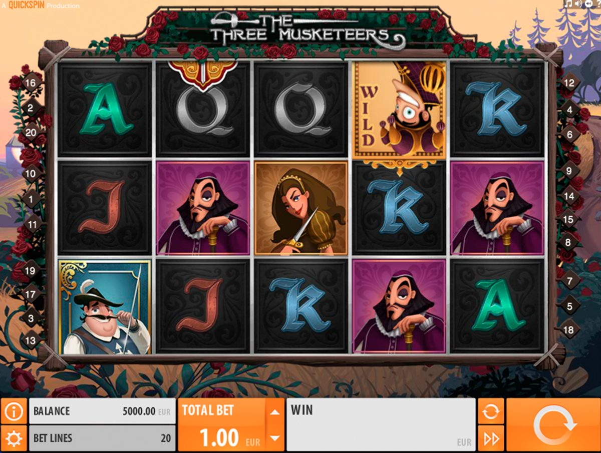 the three musketeers quickspin игровой автомат