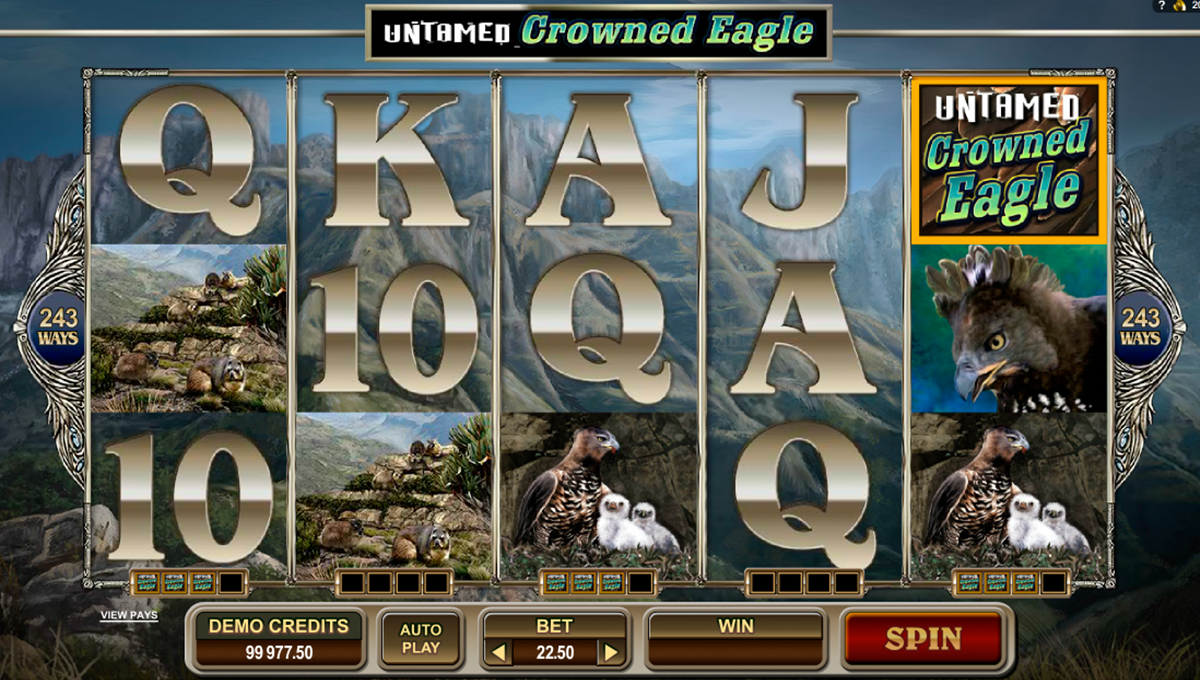 untamed crowned eagle microgaming игровой автомат