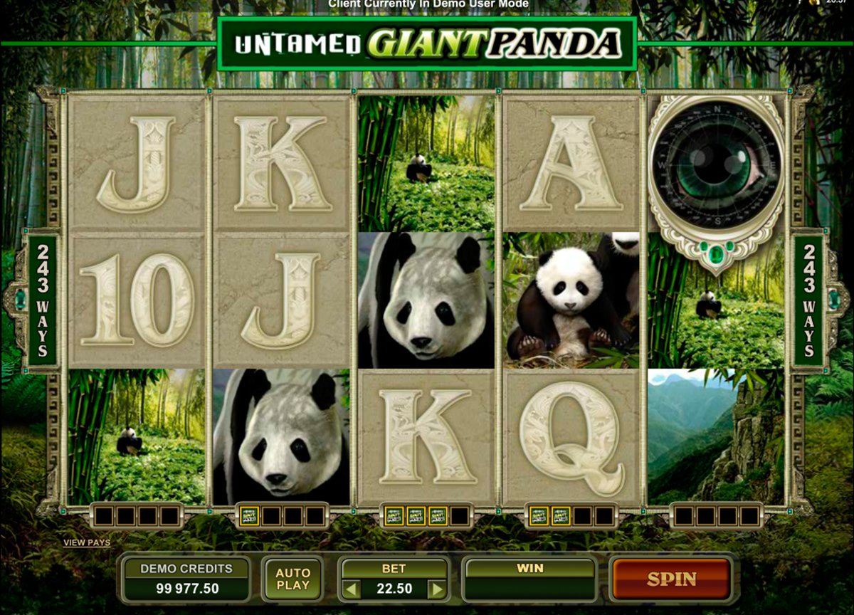 untamed giant panda microgaming игровой автомат