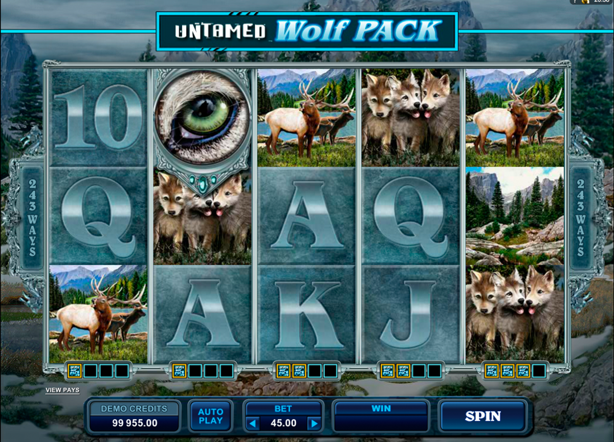 untamed wolf pack microgaming игровой автомат