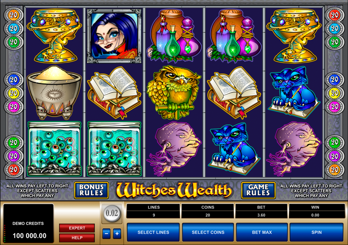 witches wealth microgaming игровой автомат